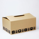 Scatole americane personalizzabili stampa flexo con chiusura a falde